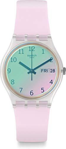Swatch Reloj Analógico para Unisex Adultos de Cuarzo con Correa en Silicona GE714