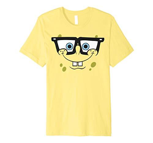 SpongeBob SquarePants Nerd Glasses Face Premium T-Shirt