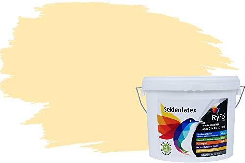 RyFo Colors Seidenlatex Trend Gelbtöne Samtgelb 12,5l - bunte Innenfarbe, weitere Gelb Farbtöne und Größen erhältlich, Deckkraft Klasse 1