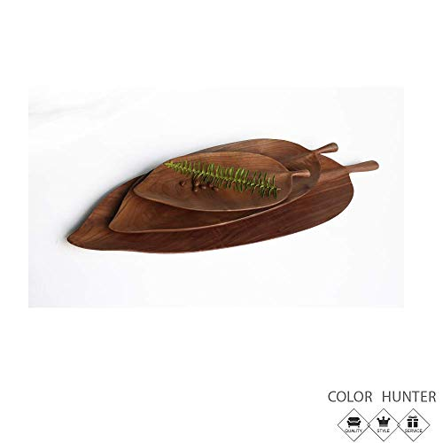 Color Hunter Serving Dish 丨Plates for snacks and dessert 丨Lightweight 丨Acacia Wood丨S:2512.52cm