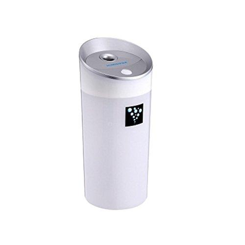 MagiDeal 300ML Ultrasónico Humidificador USB para Coche Oficina Casa de Color Verde/Azul/Rosa/Blanco - Blanco