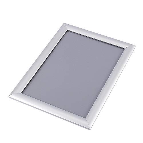 Cornice per foto a scatto, cornice per foto a scatto in alluminio A4 Portafoto per poster con clip per display da parete Segnali per bacheca