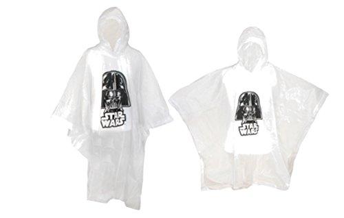 Disney Adult & Kids' Star Wars Darth Vader Poncho Set (Pack of 2), Clear