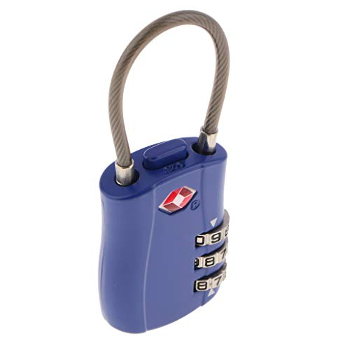 SDENSHI TSA Luggage Traveling Suitcase Bag Lock 3 Digit Combination Padlock -TSA002 - Blue