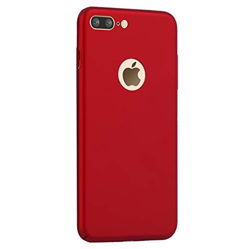 Coque Compatible avec iPhone 8 Plus,PC Matière Ultra Mince Ultra Léger Anti-Rayures Anti-dérapante Antichoc Bumper Soyeux Cover Absorption Case pour 8 Plus (iPhone 8 Plus, Rouge)
