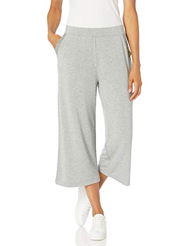 Tribal Women's Crop Wide Pant, Dk. Grey Mix, L