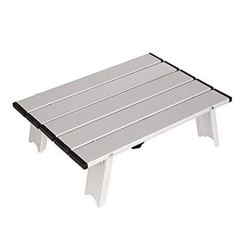 Bireegoo Mesa de camping portátil plegable de aluminio, muy ligera, fácil de...