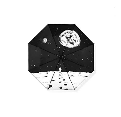 Yhui paraplu maan Koreaanse paraplu regen vrouwen zomer regen kinderen winddichte reizen regenjas duidelijk UV parasol vrouwen dames parasol