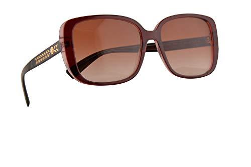 Versace VE 4357 Occhiali da sole Rosso Trasparente con Lenti a Goccia Rosa 56mm 529013 VE4357