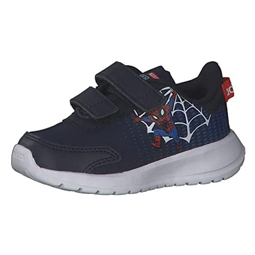 adidas Scarpe da Bambino Bimbo H01706 Sneaker Infant Ginnastica Tennis Strappo (Blu, Numeric_24)