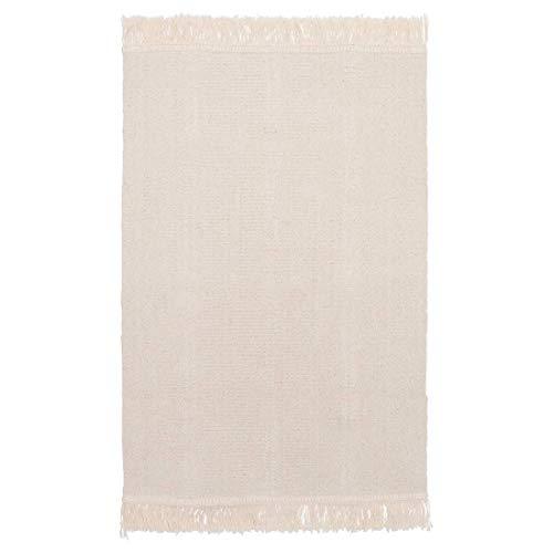 Lidoma Ikea Sortsö - Alfombra (55 x 85 cm, algodón natural, sin blanquear), color crema y beige