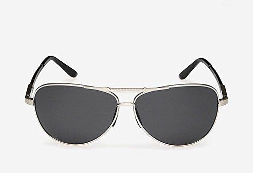 Caminante El Nuevo Aluminio Magnesio Polarizado Gafas De Sol Hombres Conducir Espejo De Color Brillante Espejo, Silver Capullos