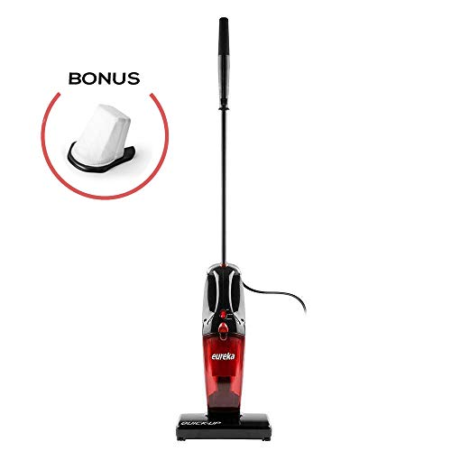 Eureka 169K 2-in-1 Quick-Up Bagless Stick Vacuum Cleaner for Bare Floors and Rugs, 169J+Filter, Light Red