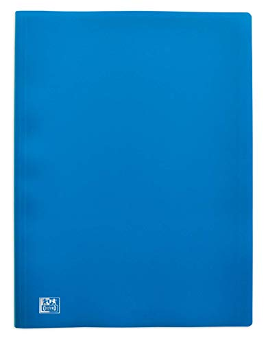 ELBA Protège-Documents Initial A4 80 vues / 40 Pochettes Couverture Polypro Bleu