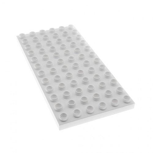 1 x Lego Duplo Bau Basic Grund Platte weiss 6x12 für Set 10525 10826 10834 10595 4196 18921