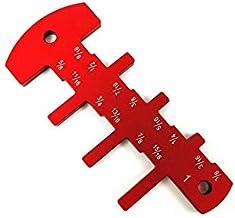 NLLeZ 1pc Pulgadas Cortador de la Altura del Cabezal Regla Medidor de Herramienta de medición for la Tabla de Sierra, fresadora, Flip-Chip Grabado Herramienta de la carpintería de Bricolaje