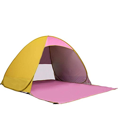 IREANJ Tienda de campaña familiar portátil ligera para 3 a 4 personas, tienda de campaña de gran tamaño de 230 x 200 x 130 cm, color amarillo, tamaño: 230 x 200 x 130 cm
