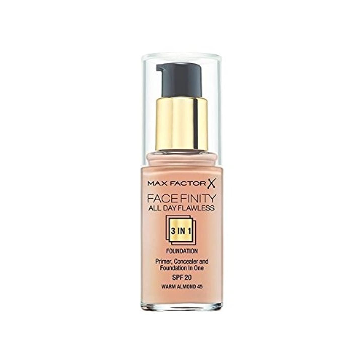 強打同種のナースMax Factor All Day Flawless 3 in 1 Foundation Warm Almond 45 (Pack of 6) - マックスファクター一日中完璧な3 1における基礎暖かいアーモンド45 x6 [並行輸入品]