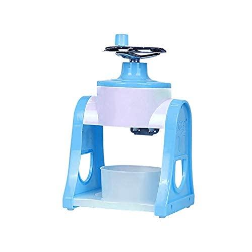 Ulyjcq Máquina de Helados, Manera portátil Máquina de Hielo Máquina de Hielo Sacudiendo Cono Transparente Mini Razor Maquinaria Máquina de Afeitar