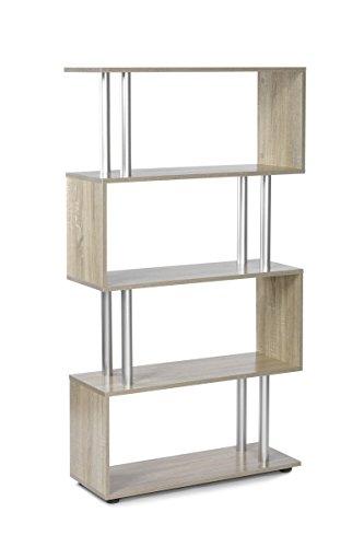 ts-ideen Design Raumteiler Regal Wand Hochregal Standregal Bücherregal Holz Sonoma Eiche