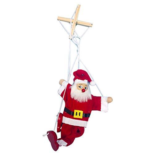 Pupazzo di Natale Giocattolo di Marionette Giocattolo di Babbo Natale Pupazzo di Neve String Pupazzo Appeso Decorazione Genitore Bambino Giocattolo interattivo Regalo