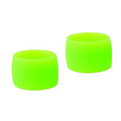 JenK Cing - Cuernos de manillar de bicicleta con cinturones y mangas de anillo antiaflojamiento tienen buena elasticidad y son anillos de fijación universales para bicicletas de montaña, verde