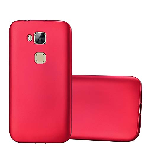 Cadorabo Hülle für Huawei G7 Plus / G8 / GX8 in METALLIC ROT - Handyhülle aus flexiblem TPU Silikon - Silikonhülle Schutzhülle Ultra Slim Soft Back Cover Hülle Bumper