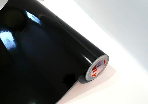 Neuheit bei tjapalo® Möbelfolie selbstklebend hochglanz Küchenfolie Bastelfolie Türfolie Klebefolie zum basteln folie zum bekleben von möbel mit Anleitung, Farbe: Schwarz, Größe: L200xB63cm