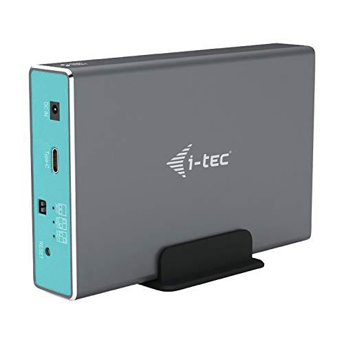 """i-tec Festplattengehaeuse für 2x 2,5"""" SATA HDD/SSD mit RAID 0/1/JBOD, USB-C 3.1 Gen. 2 / USB 3.0 Kompatibel"""