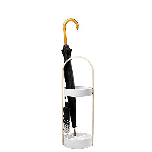 Paraguas de Madera para el hogar, Oficina, Sala de conferencias en casa, Soporte para Paraguas, Soporte para Paraguas de Suelo/Blanco, Soporte para Paraguas Amarillo para Pasillo