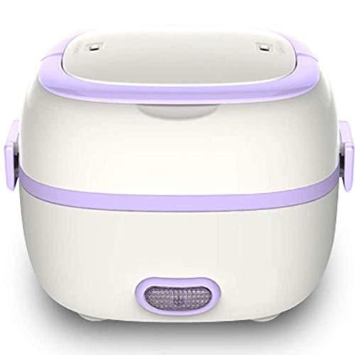 JSMY Fiambrera eléctrica Multifuncional para cocinar,preservación del Calor enchufable,Fiambrera electrónica,Mini Calentador de arroz electrónico,Fiambrera calefactora,Morado