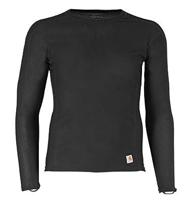 Carhartt Men's Force Lightweight Thermal Base Layer Long Sleeve Shirt, Black, Medium