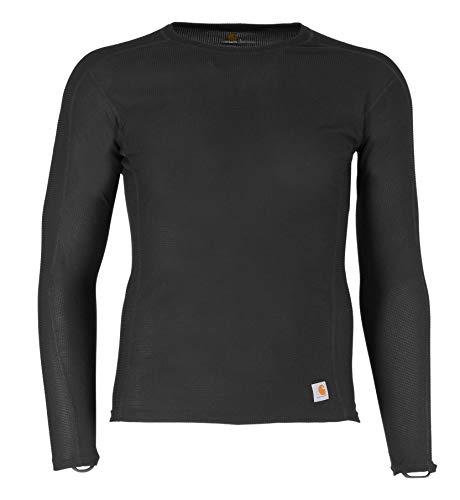 Carhartt Men's Force Lightweight Thermal Base Layer Long Sleeve Shirt, Black, 4X-Large