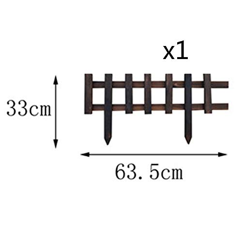 WXQIANG Holzgartenzaun Dekorative Picket Fechten Außenkanten Border Fencing Barrier Panel 2 Styles, 5 Größen (Color : A, Size : 120X90CM)