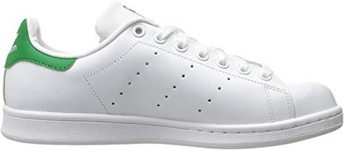 adidas Originals Damen Stan Smith Turnschuh, Schuhe Weiß/Grün, 42 EU