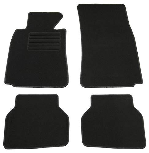 AD Tuning GmbH HG1822 Velours Passform Fußmatten Set Schwarz Autoteppiche Teppiche Carpet Floor mats