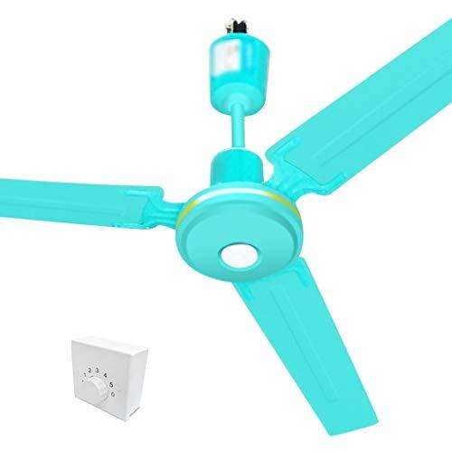 JYHW Ventilador de Techo Ventilador eléctrico Hogar Viento Grande Colgando Restaurante Hogar Sala de Estar 5 Velocidad (Color : Green, Size : 56 Inches)