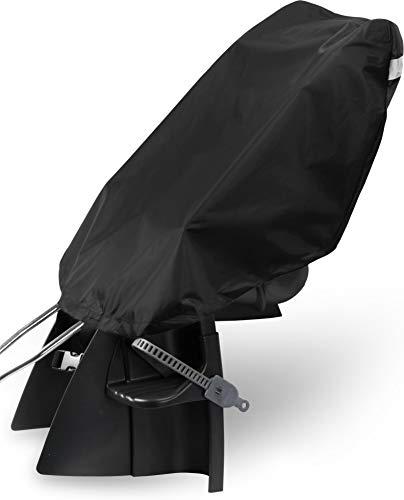 normani Fahhradkindersitzüberzug Regenschutz mit reflektierenden Streifen auf der Rückseite Farbe Schwarz