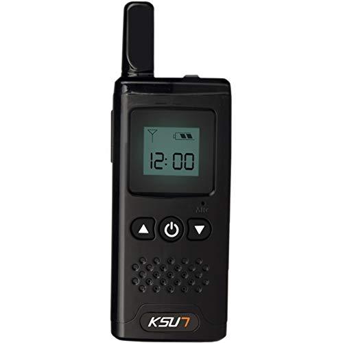 KSUN Mini Miniature Walkie-Talkie Civil Hair Salon 4S Shop Beauty Salon Hotel Small PTT Launch Button Diversified Wireless Intercom LED Display Two Way Radio