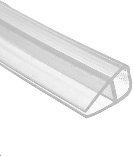 200cm U Shape Duschtür Dichtung Duschdichtung Wasserabweiser Dusche Glastür für 6mm Glasdicke
