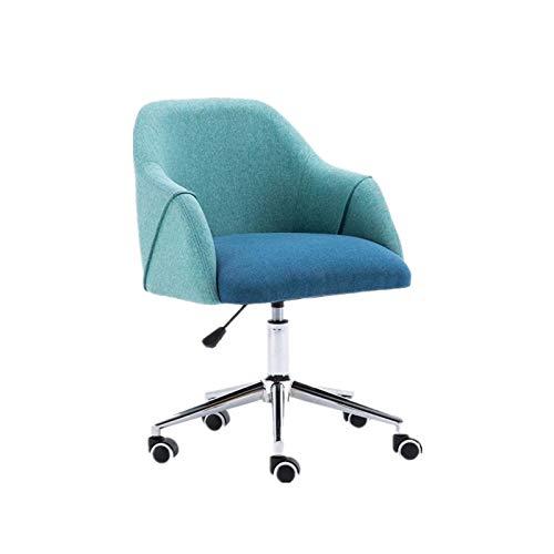 LYLY Chaise de Bureau Home Office Chair - Chaise de Bureau Ergonomique avec Bras pour Salle de conférence ou Chaise d'ordinateur de Meubles de Bureau Fauteuil de Bureau (Color : Blue)