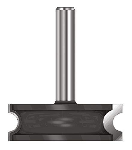 ENT Fresa de radio convexo HW, Mango (C) 12 mm, Diámetro (A) 38,1 mm, B 6,35 mm, R 3,18 mm, D 40 mm