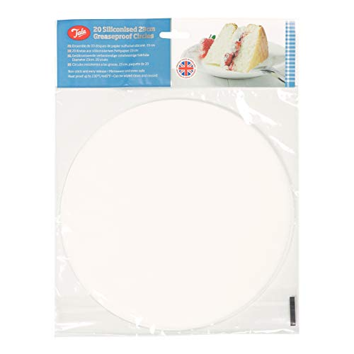 Tala Lot de 20 en Silicone 23 cm Cercle de sulfurisé, Blanc