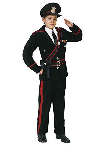 Ciao Carabiniere costume bambino, Nero, 7-9 Anni