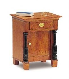 MiniMundus Biedermeier Nachttisch für das Puppenhaus, Bausatz