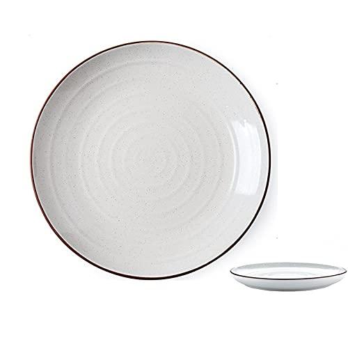 Plato de cerámica para servir Plato de carne occidental Plato de servir Plato de frutas Plato occidental Plato de 10 pulgadas Blanco