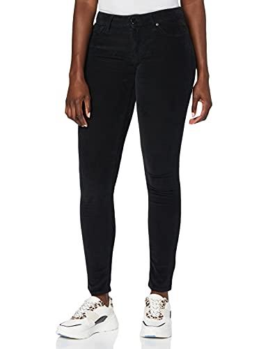 REPLAY Luz High Waist Vaqueros Skinny, Negro (Black Denim 98), 31W / 32L para Mujer