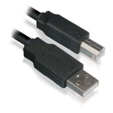 1M Cavo della Stampante / USB 2.0 Piombo Stampa / Nero A-B per Kodak, Canon, Epson, Brother, HP