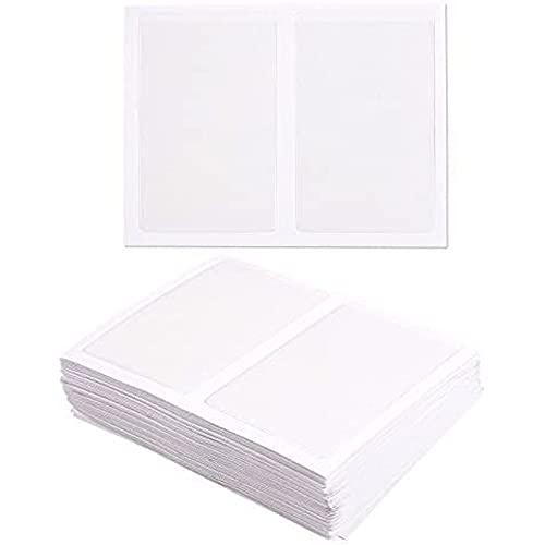 Porta Biglietti da Visita Autoadesivi - Pacco da 100 - Apertura sul Lato Corto - Plastica Trasparente - 9,4 x 5,8 cm