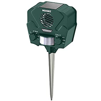 Hoont Advanced Motion Activated Solar Powered Ultrasonic with Flashing Strobe O Green